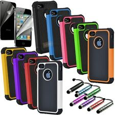Rugged Executive Armor iPhone 4 4S High Impact Hybrid Combo Hard Soft Case Cover