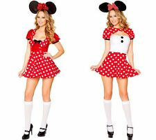 NEW WOMENS LADIES SEXY MINNIE MOUSE FANCY DRESS COSTUME HALLOWEEN OUTFIT DISNEY