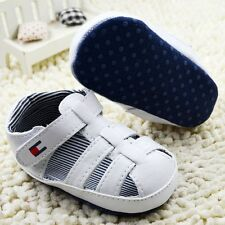 Toddler Baby boy White Sandals crib shoes Size Newborn to 18 Months