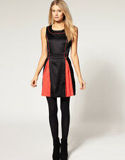 New Ladies Women Casual Party Little Black Dress LBD Work Black Red size 8 10 12