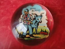 Vintage Paul Bunyon Bunyan Babe Blue Ox Glass Paperweight Souvenir