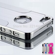 Fashion Aluminum Thin Metal Brushed Chrome Case Cover for iPhone6 / 6plus