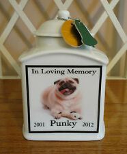 Dog Memorial Urn Personalized, FOREVER IN MY HEART, Cat, Photo, PET