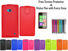 Magnetic Leather PU Top Flip Case Cover Card Cash Holder For Nokia Lumia 640 UK