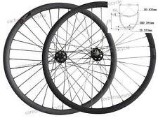 2015 29er thru Axle hub 30mm Tubular Down hill MTB carbon wheels 15mm/12mm*142mm
