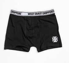 WEST COAST CHOPPERS BOXER SHORTS IN BLACK! BRAND NEW! 100% ORIGINAL!