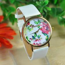 Fashion Lady Watches Women Leather Rose Flower Watch Quartz Watches NEW HOT Gift