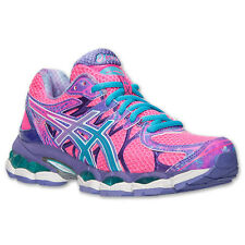 *CUTE* Womens ASICS Gel Nimbus 16 running shoes KNOCKOUT Pink Blue Ocean NIB