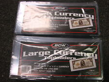 LARGE NOTES!!!  Lot of 100 Semi Rigid Holders...NEW!!!!!