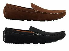 Mens Faux Suede Leather Black Brown Morden Drivers Moccasin Slip on Summer Shoes