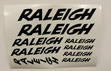Raleigh BMX,bike, bicycle, vinyl decals/stickers,3 sizes ALL COLOURS (set of 9)