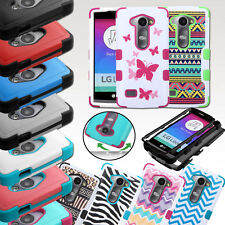 For LG Leon C40/H320/H326/H340/H345 Hybrid TUFF Protective Hard Case Cover