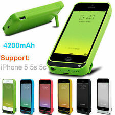 4200mAh External power bank Charger pack backup battery case for iPhone 5s 5 5c