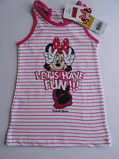 DISNEY MINNIE MOUSE GIRLS SUMMER COTTON HOLIDAY DRESS 2,3,4,7,8 YEARS