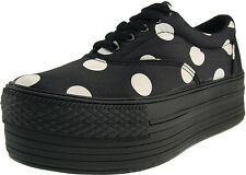 Maxstar C50 5-Holes Dot Canvas Platform Boat Sneakers Shoes 2 Colors