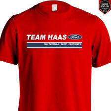 HAAS F1 TEAM FORD COSWORTH 1986 RETRO SHIRT RED S-3XL