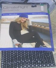 Climate Right by Cuddl duds Black W/White Design Warm Underwear New In Package
