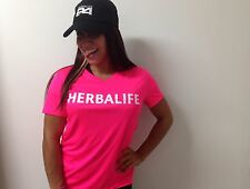 Herbalife Cool Dry Fit. Neon Pink T Shirt for Women, White Letters