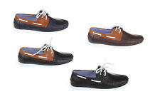 MENS LEATHER LACE UP DECK BOAT CASUAL MOCASSIN LOAFERS SHOES UK SIZE 7 8 9 10 11