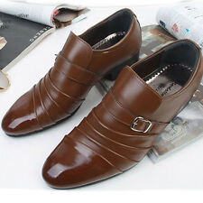 New Handmade Dynamic Brown Dress Casual Loafers Formal Mens Shoes Nova