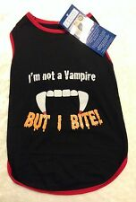 I'M NOT A VAMPIRE BUT I BITE Dog Shirt - M - Glow in Dark - Casual Canine - NWT