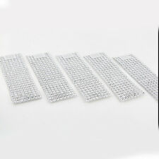 1-100pc Rhinestone 8 Row  Wedding Mesh Bling Napkin Ring Party Holder Silver