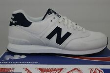 Men's New Balance Classics 574 White/Navy Size 9.5 ML574HRW New With Defects