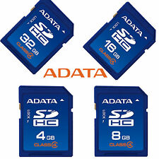 Original ADATA 4GB/8GB/16GB/32GB SD Card Class4 SDHC Memoria Camera GPS Tablet