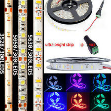 3528 2835 5050 5630 3014 SMD 5M LED Flexible Strip Light with DC Connecter