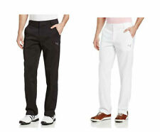 PUMA Golf Mens Solid Tech Style Pants Black White pic size and color NWT