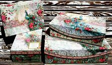 pUNCH sTUDIO Choice of Flap Lid Keepsake Boxes or Shoe Box~ Baroque Peacock Rose