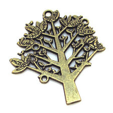 Upick 5/10/25pcs Bronze Alloy Little Tree Chram Pendants Findings 36x42mm