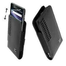 Leather Open Top Hip Case Pouch Holder for LENOVO phones. +Holster Belt-Clip New