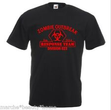 zombie response outbreak mens t-shirt BLACK & RED graphic top new XL Trendy te
