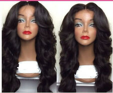 Malaysian  Lace Front  wig 100%   Human  Hair  Remy curly wave 4  color