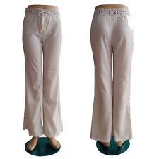 2015 Summer Fashion Sexy Baggy Beach Casual Loose White Lace Long Pants Wide Leg