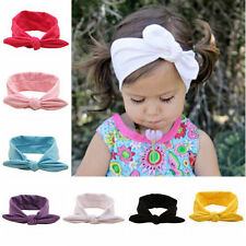 Toddler Kids Baby Girl Bunny Rabbit Bow Knot Turban Headband Hair Band Head Wrap