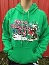 Girlie Girl Originals Merry Christmas Y'all Unisex Fit Adult Hoodie Irish Green