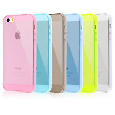 CUSTODIA CASE COVER PER APPLE IPHONE 5 5S TPU GEL TRASPARENTE MORBIDA