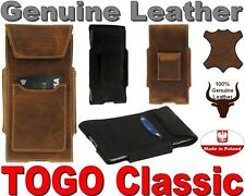 TOGO CLASSIC GENUINE LEATHER HOLSTER WITH BELT LOOP POUCH CASE AND CARD POCKET