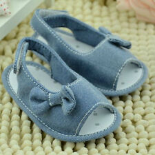 Infant Baby Girls Princess Bowknot Summer Sandals Soft Non-slip Crib Shoes 0-18M