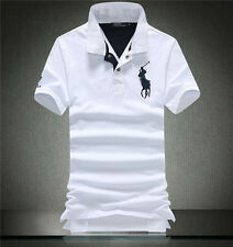 Summer New Men's Large Size Short Sleeve Polo Shirt Business Casual Tops T-Shirt