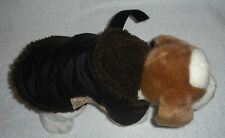 OILSKIN WATERPROOF BROWN WITH CHOCOLATE SHERPA DOG COAT