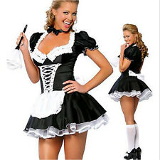 Sexy Halloween French Maid Costume Party Fancy Dress Black&White Waiter Outfit