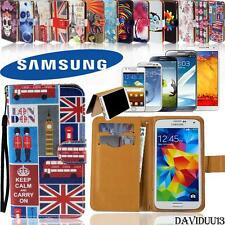 New Flip Wallet Card Stand Leather Magnetic Case Cover For Samsung Galaxy Phones