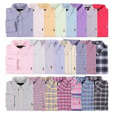 NWT Polo Ralph Lauren Men Standard Fit Oxford ButtonDown Long Sleeve Shirt S~XXL