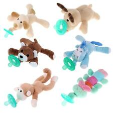 0-6 months Newborn Infant Baby Food-grade Silicone Pacifiers Plush Animal Nipple