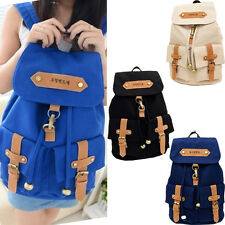 Fashion New Vintage Men Women Canvas Backpack Rucksack Satchel School Bag Unisex