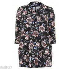 Plus Size Black Floral Tunic / Top    ***FREE POSTAGE***