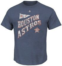 Houston Astros Majestic At Our Place Navy Heather Men's T Shirt Big & Tall Sizes